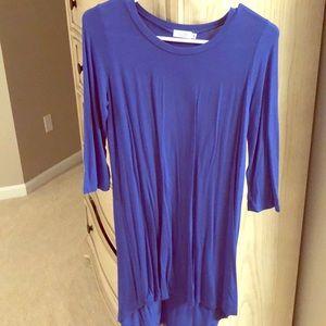 Blue cotton t shirt dress